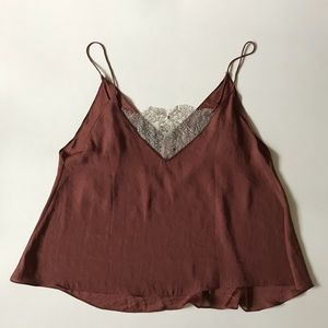 Intimately Free People brown lace top one size